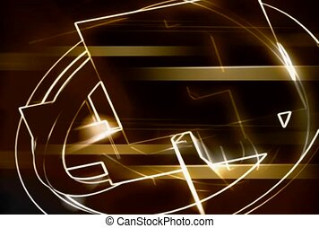 Lighted Lines Background