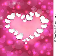 Lighten background with hearts for Valentine Day