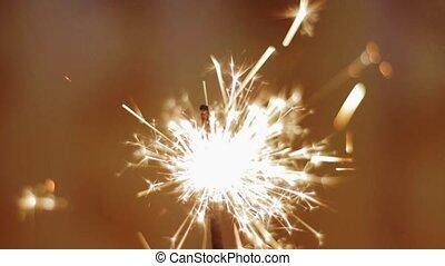 Lightening Christmas sparkler. Speed