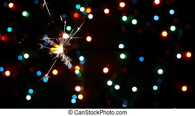 Lightening Christmas sparkler