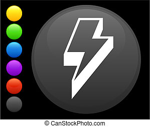 lightening icon on round internet button