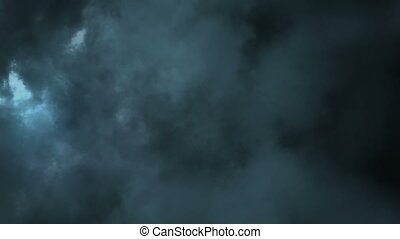 Lightening storm in clouds - Beautiful lightening storm in...