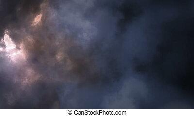 Lightening storm in clouds - Beautiful lightening storm in...