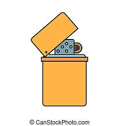 Lighter cartoon icon