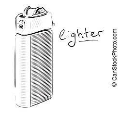 Lighter cartoon sketch vector illustration