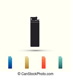 Lighter icon isolated on white background. Set elements in colored icons. Flat design. Vector Illustration