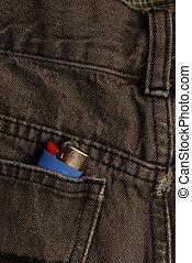 lighter in back pocket