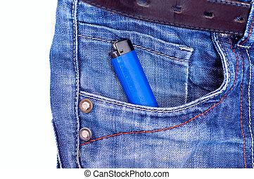 Lighter in pocket