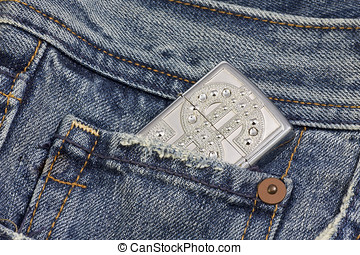 lighter in the pocket jeans