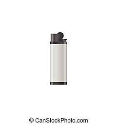 Lighter isolated on white background vector illustration