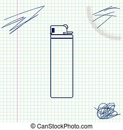 Lighter line sketch icon isolated on white background. Vector Illustration