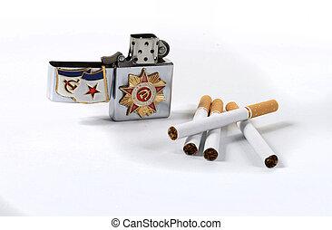 Lighter Soviet - lighter soviet with some cigarettes