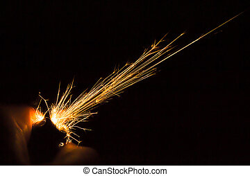 Lighter Sparks - Sparks from a hand held ligther in the dark