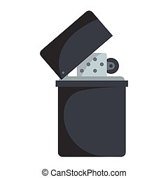 Lighter vector icon in flat cartoon style isolated on white background