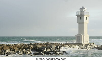 Lighthouse Akranes Iceland - Old lighthouse at Akranes West...
