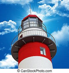 lighthouse and blue sky