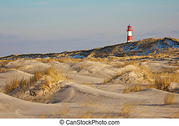 Lighthouse and dunes wide 1