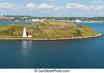 Lighthouse and fort