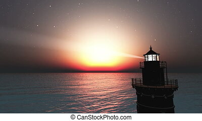 lighthouse and horizon