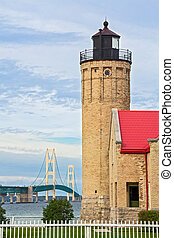 Lighthouse and the Mighty Mac - The Old Mackinac Point ...