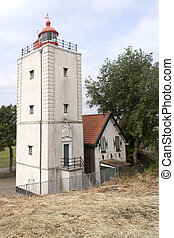 Lighthouse at Andijk in Holland - Lighthouse de Ven is on...
