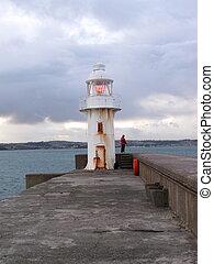 Lighthouse at Brixham Harbour Devon UK