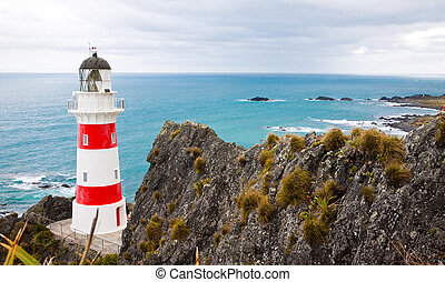 Lighthouse at Cape Palliser, New Zealand