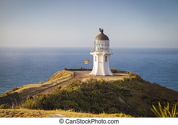 Lighthouse at Cape Reinga New Zealand