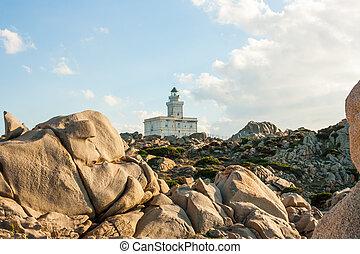 Lighthouse at Capo Testa, Sardinia - Lighthouse at the Capo ...