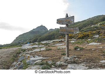 Lighthouse at Cies island natural park, Galicia
