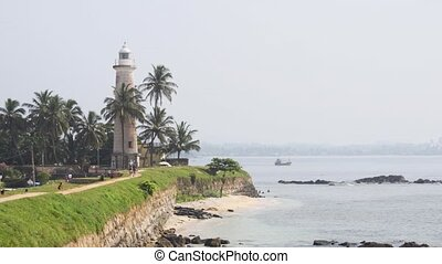 Lighthouse at Galle Fort in Sri Lanka