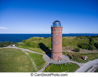Lighthouse at Kap Arkona, Island of Ruegen, Germany Peilturm