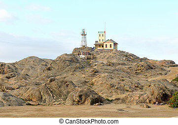 Lighthouse at Luderitz in Namibia
