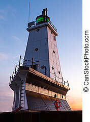 Lighthouse at Ludington, Michigan