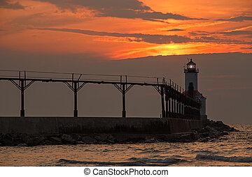 Lighthouse at Michigan City