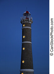 Lighthouse at Night in Jose Ignacio near Punta del Este, Atlantic Coast, Uruguay
