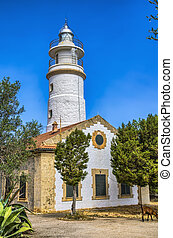 Lighthouse at Port de Soller in Majorca