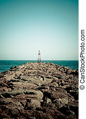 Lighthouse at the Edge of Guadiana in Portugal