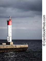 Lighthouse at the end of a Pier