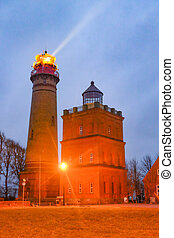 Lighthouse at the north tip of island Ruegen, Germany - ...