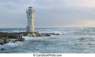 Lighthouse at the port of Akranes