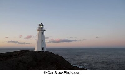 Lighthouse - Atlantic Canada lighthouse at sunset.