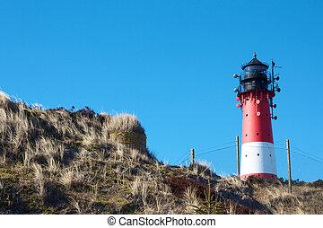Lighthouse between dunes 1