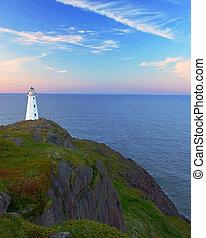 Lighthouse by the Ocean - lighthouse by the ocean on a warm...