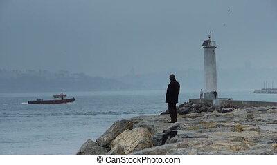 Lighthouse coast water nature