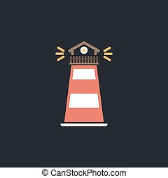 Lighthouse computer symbol