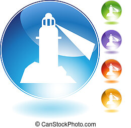 Lighthouse Crystal Icon
