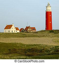 lighthouse, De Cocksdorp, Texel Island, Netherlands