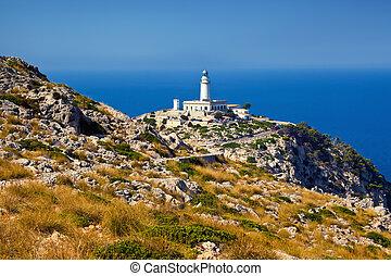Lighthouse Formentor, Mallorca, Balearic island, Spain