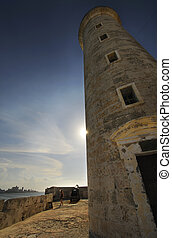 Lighthouse from El Morro fortress in havana